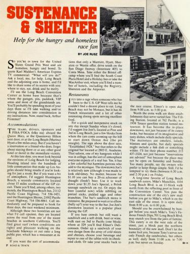 Road  Track Article 01 1982