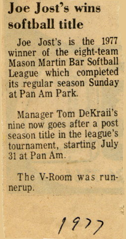 Softball Clipping 01 1977