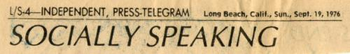 header Socially Speaking Sept 1976