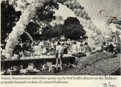 Tennis Tournament Picnic Newspaper Photo 01 1982 568 290