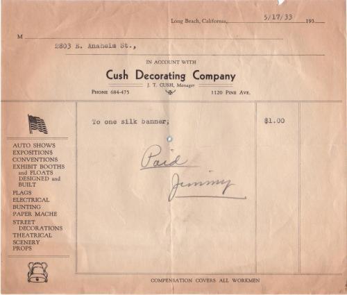 bill 1933.05 silk banner