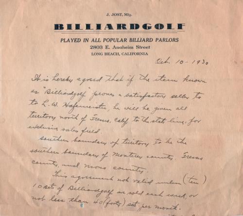 billiardgolf 1930.10
