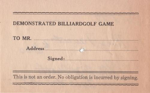 form 1933 demo billiardgolf