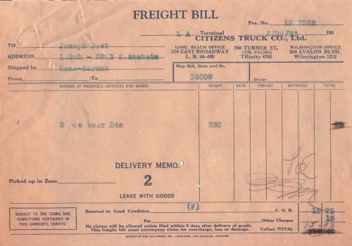 freight bill 1933.06