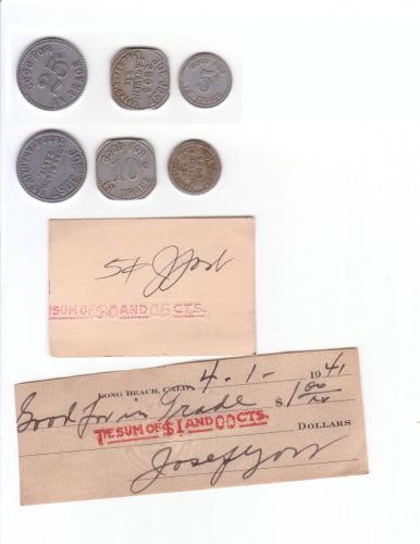gambling coins 1941