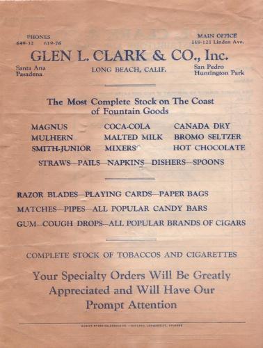 invoice 1933.09 glen clark  co b