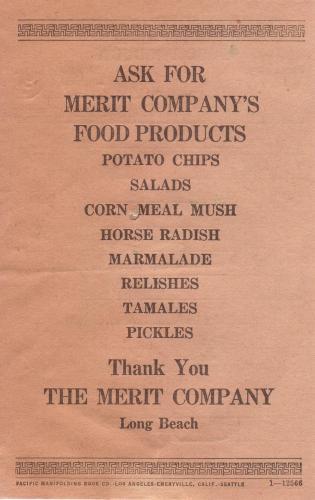 invoice 1933.10 the merit co back