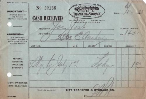 receipt 1933.06 storage co